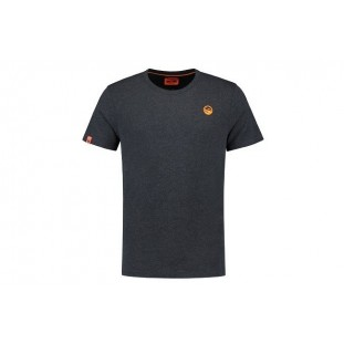 GURU BRUSH LOGO TEE HEATHER CHARCOAL