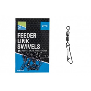 EMERILLON A AGRAFE DOUBLE FEEDER LINK SWIVELS