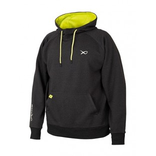 SWEAT MINIMAL BLACK/MARL+LIME HOODY