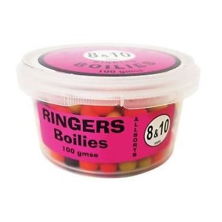 RINGERS ALLSORTS MATCH BOILIES 8MM & 10MM 100G