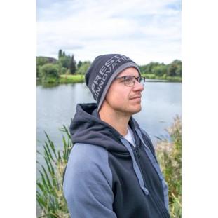 BONNET NOIR/GRIS BEANIE HAT