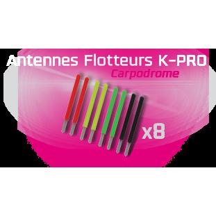 KIT ANTENNES LONGUES SERIES PRO 2,0MM (ROUGE, JAUNE, VERT, NOIR) X8