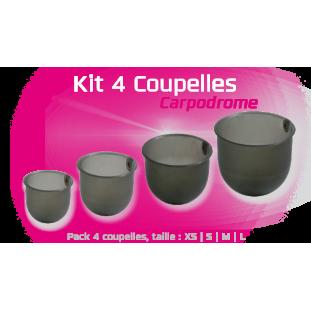 KIT 4 COUPELLES 75ML, 100, 150 ET 250ML