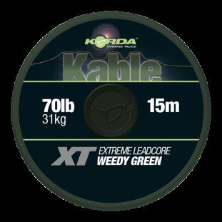 KABLE XT EXTREME LEADCORE 70LB 15M GREEN